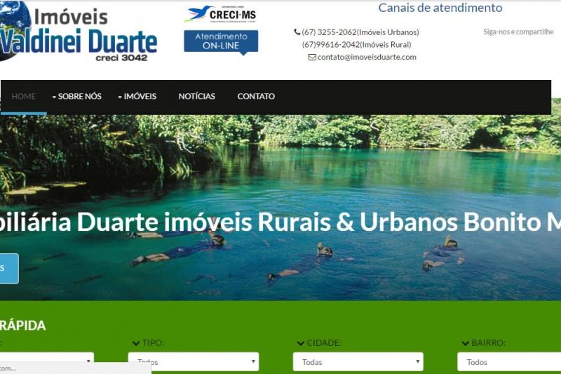 Site imobiliário Duarte Imóveis